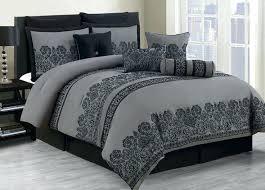 black and gray bedding sets piece king comforter set