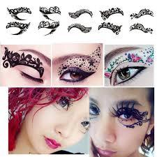 временные татуировки на глаза