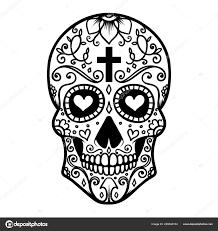 Day Of The Dead Skull Designs Images Mexican Sugar Skulls Illustration Mexican Sugar