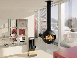 Contemporary interior design with hanging fireplaces. by Ena Russ last  updated: 08.06.2013
