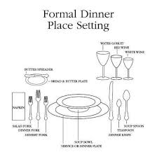 formal setting of a table. alluring formal setting of a table with