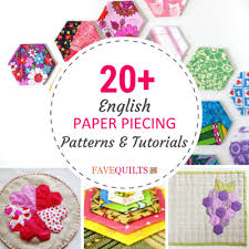 Paper Piecing Patterns Magnificent 48 English Paper Piecing Patterns And Tutorials FaveQuilts