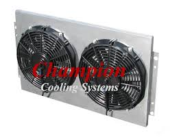 1964 1965 chevy chevelle 3 row radiator shroud fan new shroud has no louvers and looks like picture below