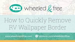 how to remove rv wallpaper border