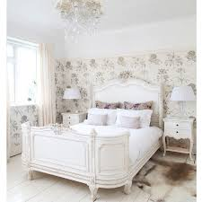white fur rug wallpaper. bedroom:sophisticated french country bedroom decor with white fur rug on black wooden floor and wallpaper p