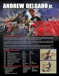 motocross resume. motocross sponsorship ...