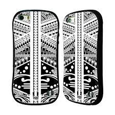 Head Case Silikonplast Odolný Obal Na Mobil Apple Iphone 55s Vzor Maorské Tetování Motivy černá A Bílá Polynézie