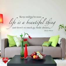 marilyn monroe wall decals quotes is a beautiful thing quote wall art  sticker life is a