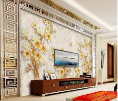 home decoration 3d wall murals wallpaper hand painted chinese style flowers painting wallpaper photo mural wallpaper in wallpapers from home improvement on