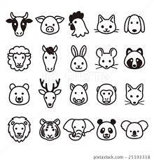 Animal Icon Animals Icon Stock Illustration 25193318 Pixta