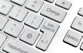 finding jobs at company websites on line job search computer keybaord