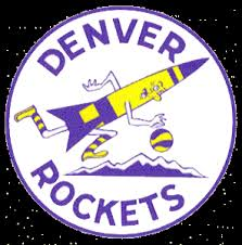 denver rockets jersey. denver rockets primary logo (1972) - a rocket dribbling basketball over mountains in jersey