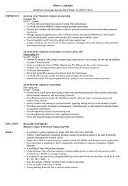 Electronics Design Engineer Courses Electronic Design Engineer Resume Samples Velvet Jobs