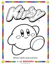 Small Picture Kirby Nintendo Coloring Pages Play Nintendo