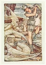 us and the gorgons ilration by walter crane from a wonder book for s