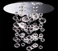 60cm murano due ether chandelier bubble glass ceiling light contemporary fixture
