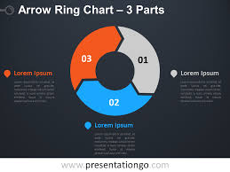 Arrow Ring Chart Powerpoint 3 Parts Arrow Ring Powerpoint Chart Presentationgo Com