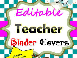Binder Cover Page Editable Teacher Binder Covers With Various Background Designs