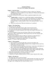 the scarlet letter study guide answer key the scarlet letter  9 pages scarlet letter reading guide questions