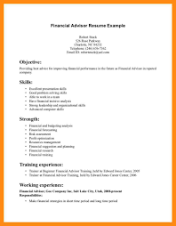 14 Sample Financial Advisor Resume Dtn Info