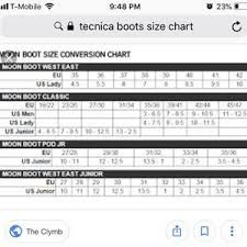 Tecnica Size Chart Tecnica Vintage Goat Hair And Leather Boots 10
