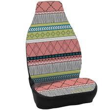 neon aztec tribal pattern on a 100 waterproof neoprene car seat cover
