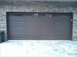 18 ft garage door amarr lincoln collection 3000 long panel in a dark brown finish with full sunray window inserts