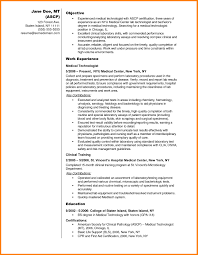 Nice Medical Technology Resume Sample Pictures Inspiration Entry