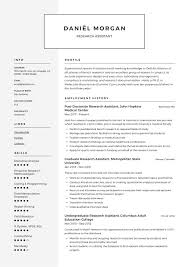 What Is Needed For A Modern Resume Research Assistant Resume Sample Writing Guide