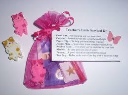 Teacher Survival kit thank you gift, present, keepsake card ...