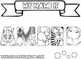 Small Picture Printable Name Coloring Pages Amber