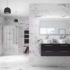 Chic Bathroom On Marble Effect Bathroom Tiles