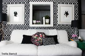 home decor trend stenciling in black white stencil stories