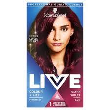 Live Colour Lift Permanent Hair Dye L76 Ultra Violet