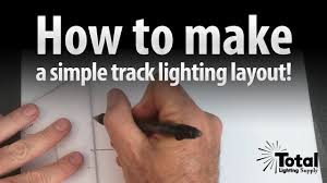 how to track lighting. how to make a simple track lighting layout by total youtube