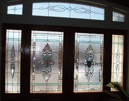 interesting beveled glass home entry door