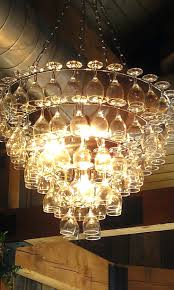 of up cycling wine glass chandeliers funky cool wine glass chandelier chandelier restaurant saskatoon the chandelier restaurant 1075 broadway bayonne nj