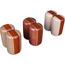 wood salt and pepper shakers  ode to wood