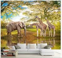 Wholesale <b>3d</b> Mural Elephant <b>Wallpaper</b> - Buy Cheap <b>3d</b> Mural ...