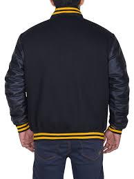 Majestic International Size Chart Majestic Mens Pittsburgh Pirates Letterman Black Jacket