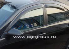 <b>Дефлекторы боковых окон</b> Nissan Primera 2002-2008 <b>темные</b>, 4 ...