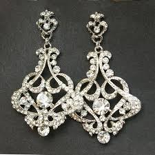crystal chandelier bridal earrings vintage style chandelier wedding earrings victorian style statement bridal earrings cressida