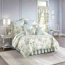 waverly bedding sets green and blue reversible 4 piece cotton comforter set discontinued