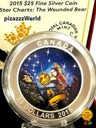 Details About 2015 Canada Star Charts The Wounded Bear Glow In Dark Color 25 Silver Coin