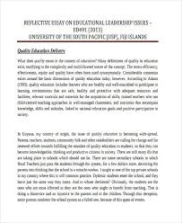 reflective essay examples samples leadership reflective example