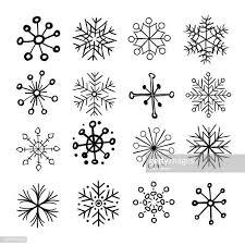 60点の雪の結晶のイラスト素材クリップアート素材マンガ素材