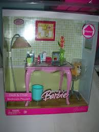barbie furniture ideas. barbie desk and chair bedroom playset ebay furniture ideas