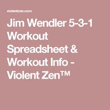 Workout Spreadsheet Jim Wendler 5 3 1 Workout Spreadsheet Workout Info Violent Zen