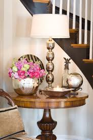 entry foyer table. Foyer Table Decorated With A Mix Of Chrome \u0026 Mercury Glass. Entry O