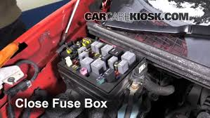 replace a fuse 2001 2005 pontiac aztek 2001 pontiac aztek 3 4l v6 6 replace cover secure the cover and test component